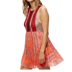 Free People Katie Crochet Bodice Dress